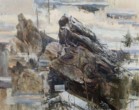 Krtinec, 160x200cm, olej na plátně, 2018