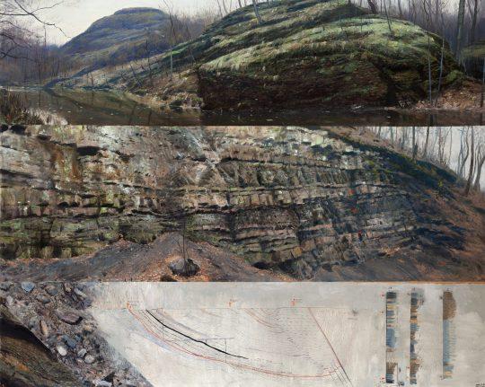 Boskovická brázda od východu k západu, olej na plátně, 160x200cm, 2018
