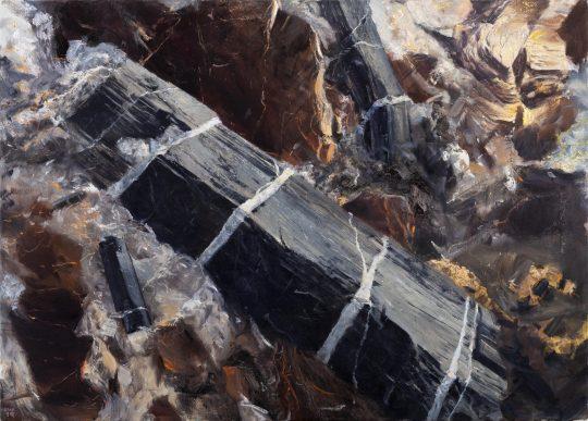 Turmalín Nedvědice, olej na plátně, 60x90cm, 2018