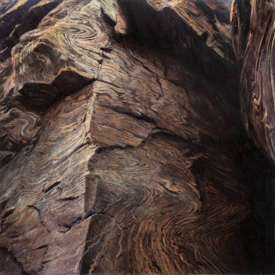 Sněžnické ruly, olej na plátně, 90x90cm, 2020