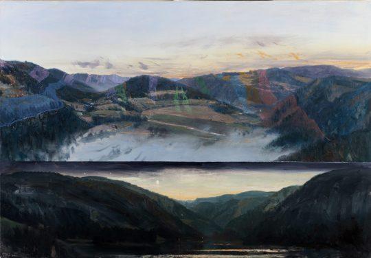 Svratecké krystalinikum, olej na plátně, 90x130cm, 2018