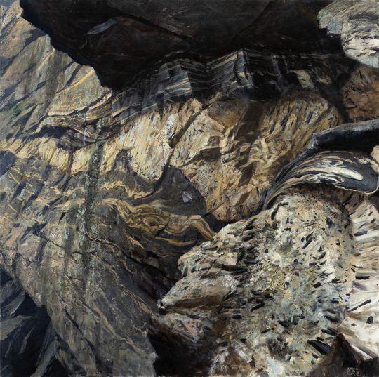 Turmalíny v údolí Divoké Desné, olej na plátně, 90x90cm, 2020