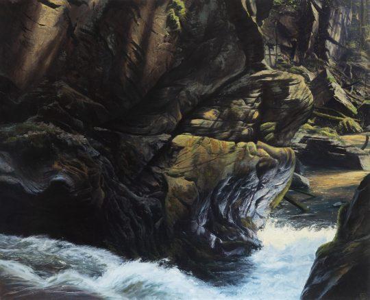 Rokle v Porfyroidech, olej na plátně, 160x200 cm, 2020