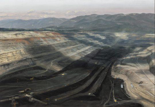 Lom Bílina, olej na plátně, 90x130 cm, 2020
