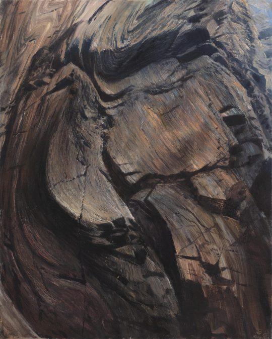 Kadaň 1, olej na plátně, 50x40 cm, 2019