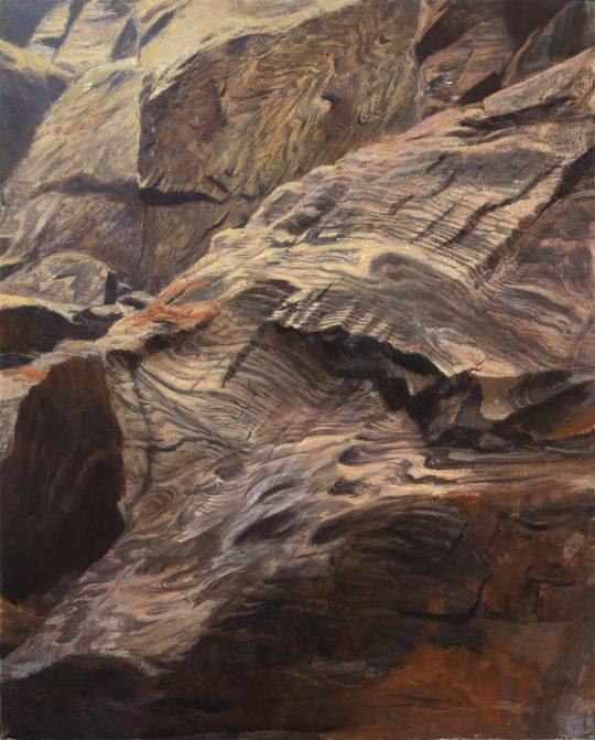 Kadaň 2, olej na plátně, 50x40 cm, 2019