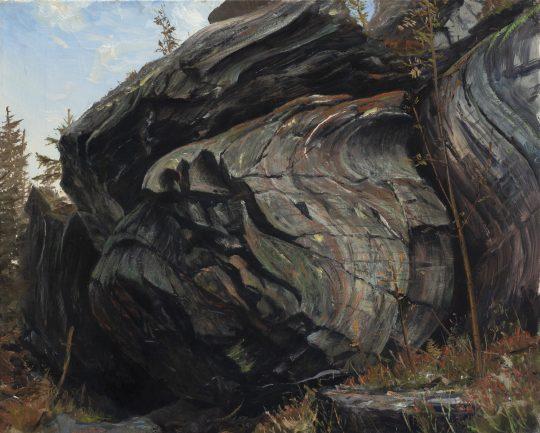 Shear zone, olej na plátně, 40x50 cm, 2019